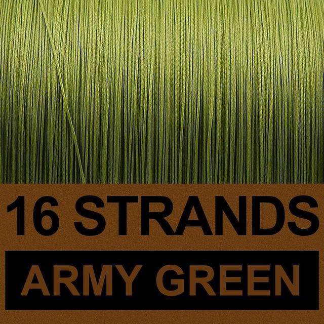 Frwanf 16 Strands 500M Braided Fishing Line Hollowcore Multifilament Line-Frwanf Official Store-Army Green-1.0-Bargain Bait Box