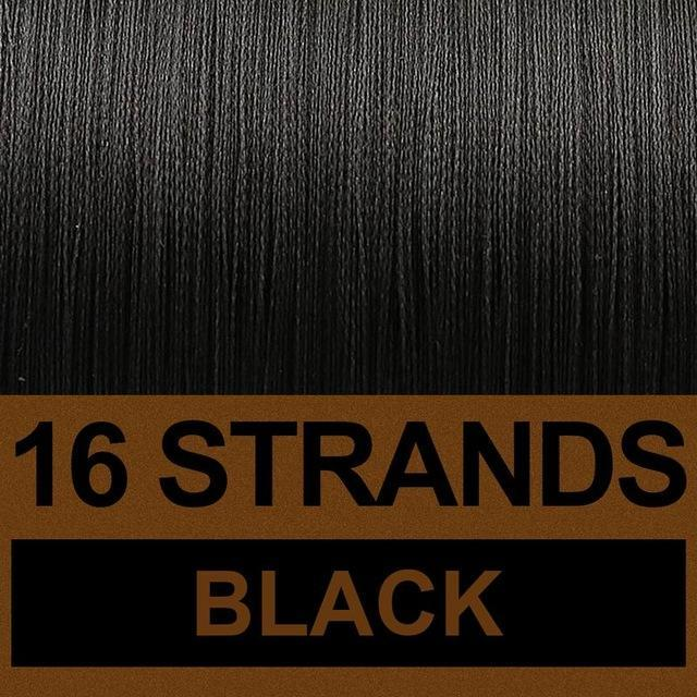 Frwanf 16 Strands 500M Braided Fishing Line Hollowcore Multifilament Line-Frwanf Official Store-Black-1.0-Bargain Bait Box