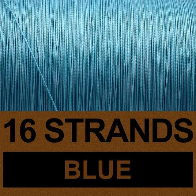 Frwanf 16 Strands 500M Braided Fishing Line Hollowcore Multifilament Line-Frwanf Official Store-Blue-1.0-Bargain Bait Box