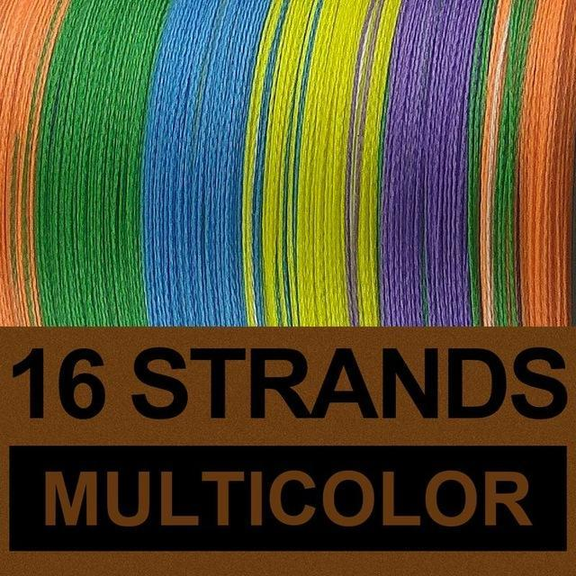 Frwanf 16 Strands 500M Braided Fishing Line Hollowcore Multifilament Line-Frwanf Official Store-Multicolor-1.0-Bargain Bait Box