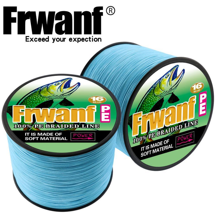 Frwanf 16 Strands 500M Braided Fishing Line Hollowcore Multifilament Line-Frwanf Official Store-White-1.0-Bargain Bait Box