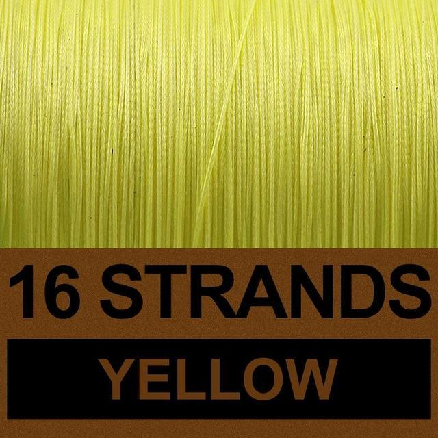 Frwanf 16 Strands 500M Braided Fishing Line Hollowcore Multifilament Line-Frwanf Official Store-Yellow-1.0-Bargain Bait Box