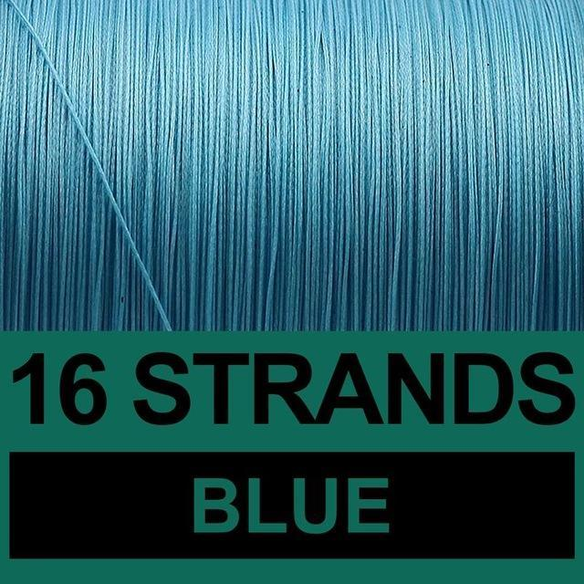 Frwanf 16 Strands Braided Fishing Line 500M Hollowcore Multifilament Line-Frwanf Official Store-Blue-1.0-Bargain Bait Box