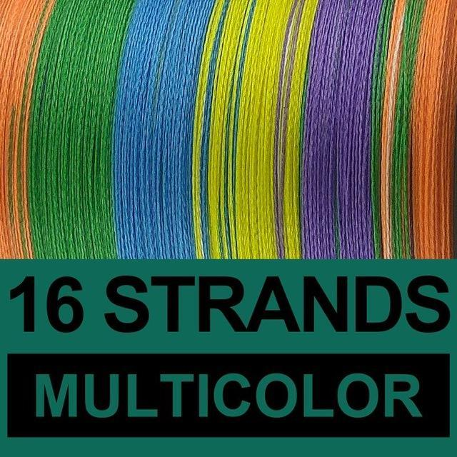 Frwanf 16 Strands Braided Fishing Line 500M Hollowcore Multifilament Line-Frwanf Official Store-Multicolor-1.0-Bargain Bait Box