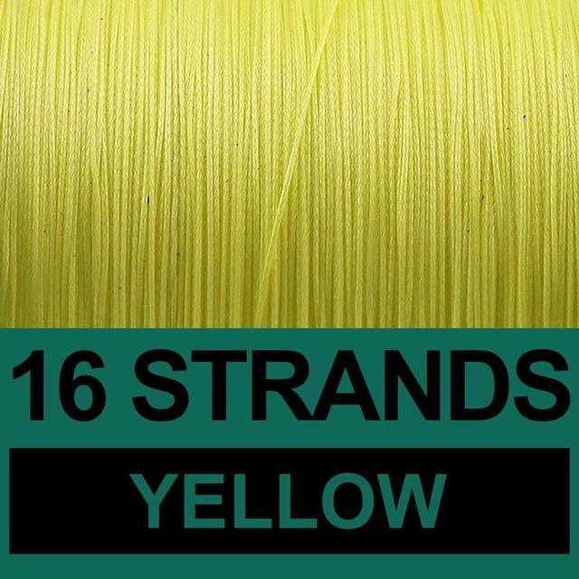 Frwanf 16 Strands Braided Fishing Line 500M Hollowcore Multifilament Line-Frwanf Official Store-Yellow-1.0-Bargain Bait Box