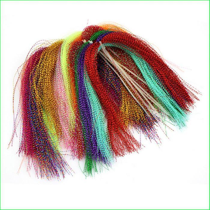 Ft01 10 Colors 15 Bags/Set Fly Tying Fly Fishing Feather Line Tinsel Chenille-Fly Tying Materials-Bargain Bait Box-Bargain Bait Box