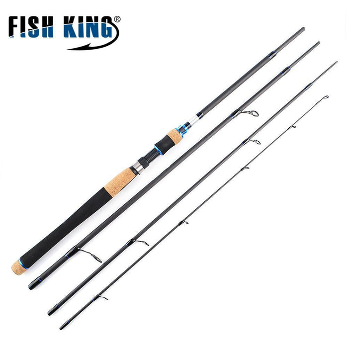 Ftk 4 Section High Quality Carbon Spinning Fishing Rods 2.1M 2.4M 2.7M Fishing-Spinning Rods-Shop2971001 Store-Navy Blue-Bargain Bait Box