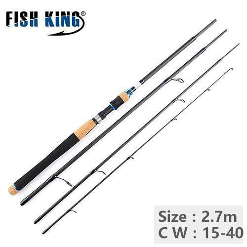 Ftk 4 Section High Quality Carbon Spinning Fishing Rods 2.1M 2.4M 2.7M Fishing-Spinning Rods-Shop2971001 Store-Orange-Bargain Bait Box