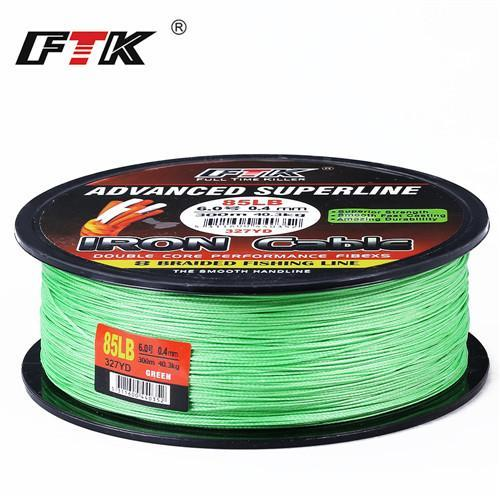 Ftk 8 Braided Wire 300M 1.0-6.0# Code 23-85Lb 4 Colors Braided Fishing Line-FTK Official Store-green 300m-1.0-Bargain Bait Box