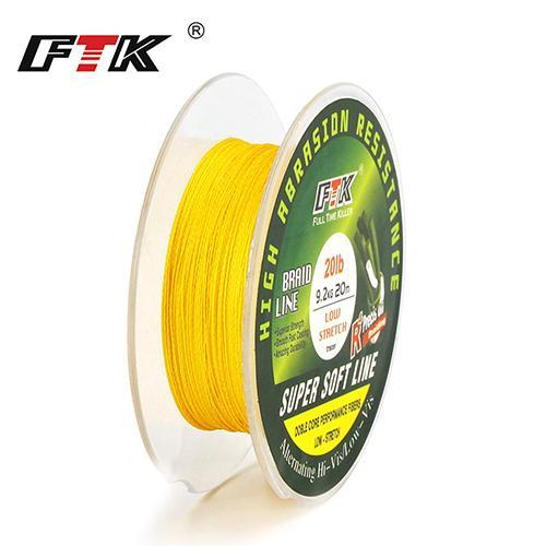 Ftk Fishing Pe Line 20M 8-25Lb 3.5-11.5Kg Dia/Mm 0.06-0.22 For Winter High-FTK koko Store-huangse-0.1-Bargain Bait Box