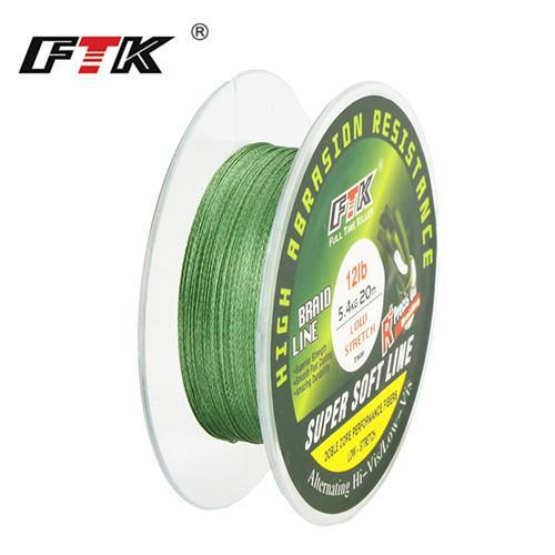 Ftk Fishing Pe Line 20M 8-25Lb 3.5-11.5Kg Dia/Mm 0.06-0.22 For Winter High-FTK koko Store-lvse-0.1-Bargain Bait Box