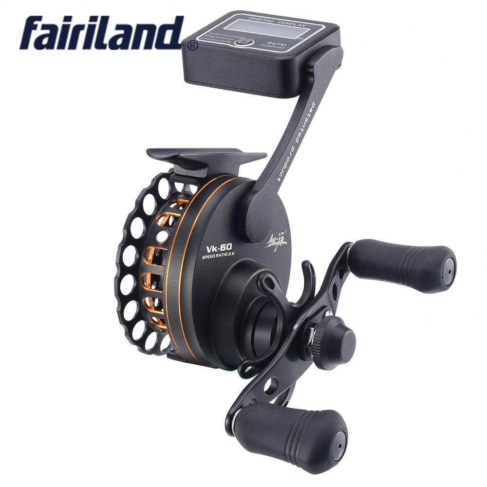 Full Aluminum Raft Fishing Reel W/ Digital Line Counter 6Bb 2.6:1 Left And Right-Line Counters-Bargain Bait Box-Left Hand-6-Other-Bargain Bait Box