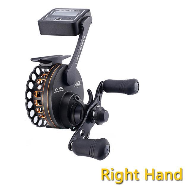 Full Aluminum Raft Fishing Reel W/ Digital Line Counter 6Bb 2.6:1 Left And Right-Line Counters-Bargain Bait Box-Right Hand-6-Other-Bargain Bait Box