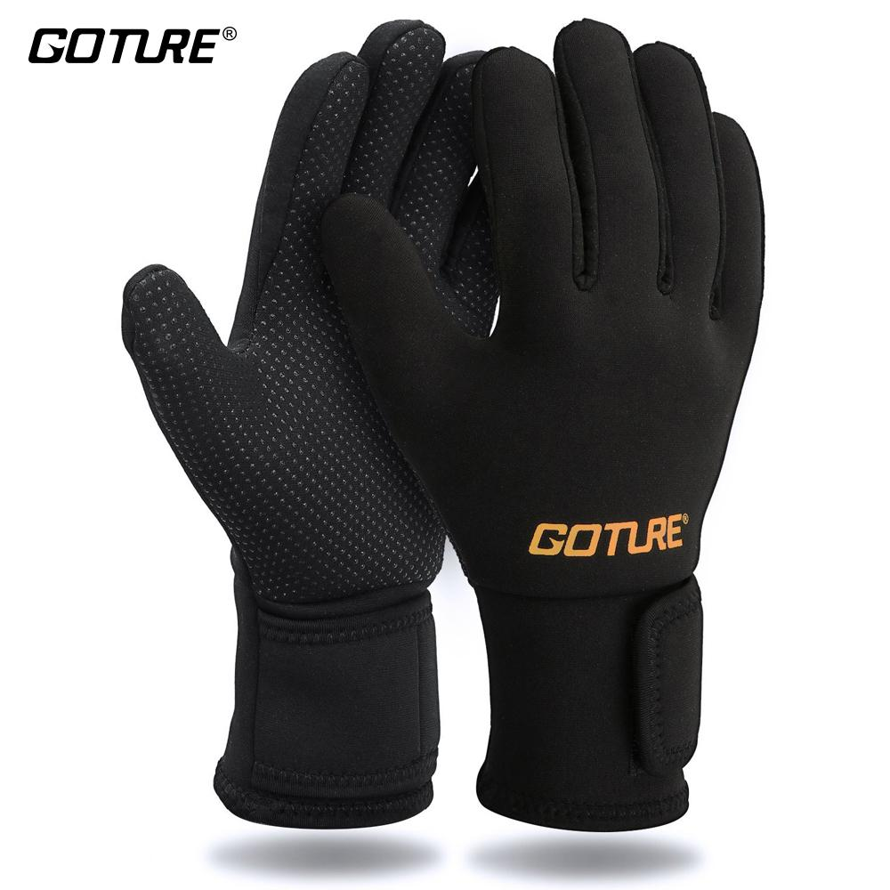 Full Finger Anti-Slip Men'S Fishing Gloves Black Waterproof Non-Slip Gloves D30-Gloves-Bargain Bait Box-Black-L-Bargain Bait Box