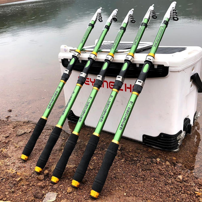Ghotda 2.1M 3.6M Carp Fishing Rod Feeder Hard Frp Carbon Fiber Telescopic-Fishing Rods-GHOTDA Official Store-White-2.1 m-Bargain Bait Box
