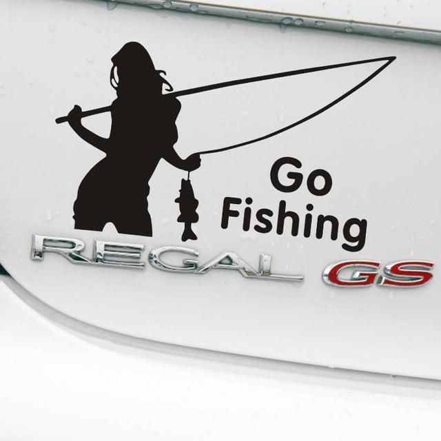 Go Fishing Car Decoration Reflective Car Sticker And Decal For Volkswagen Golf-Fishing Decals-Bargain Bait Box-Black-Bargain Bait Box