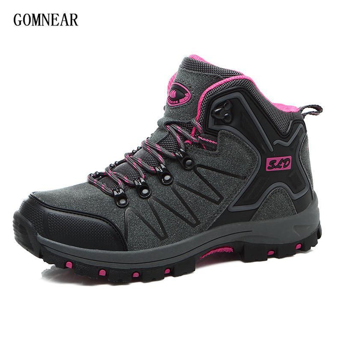 Gomnear Autumn And Winter Women'S Hiking Boots Breathable Antiskid Outdoor-GOMNEAR Official Store-Gray-5-Bargain Bait Box