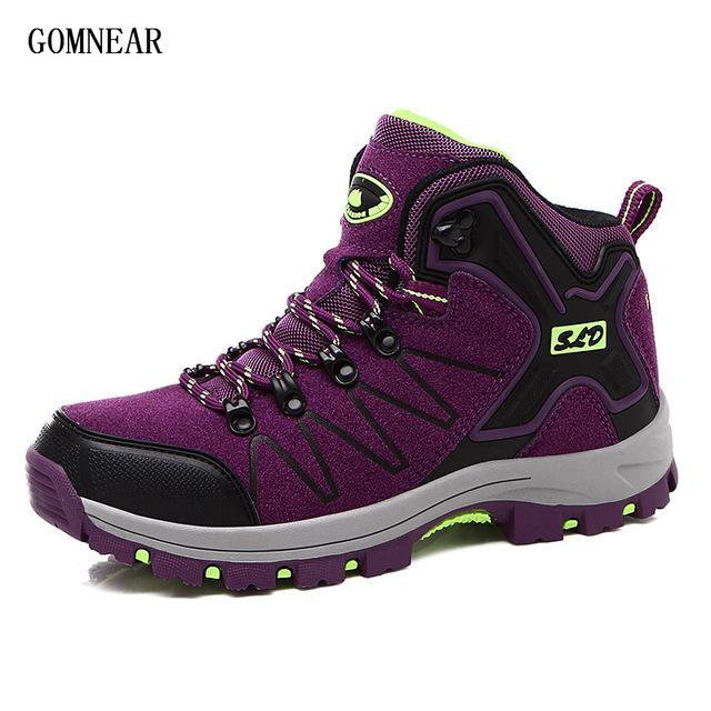 Gomnear Autumn And Winter Women'S Hiking Boots Breathable Antiskid Outdoor-GOMNEAR Official Store-Purple-5-Bargain Bait Box