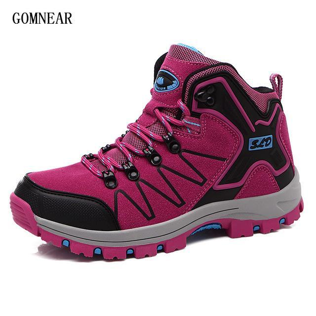 Gomnear Autumn And Winter Women'S Hiking Boots Breathable Antiskid Outdoor-GOMNEAR Official Store-Rose red-5-Bargain Bait Box