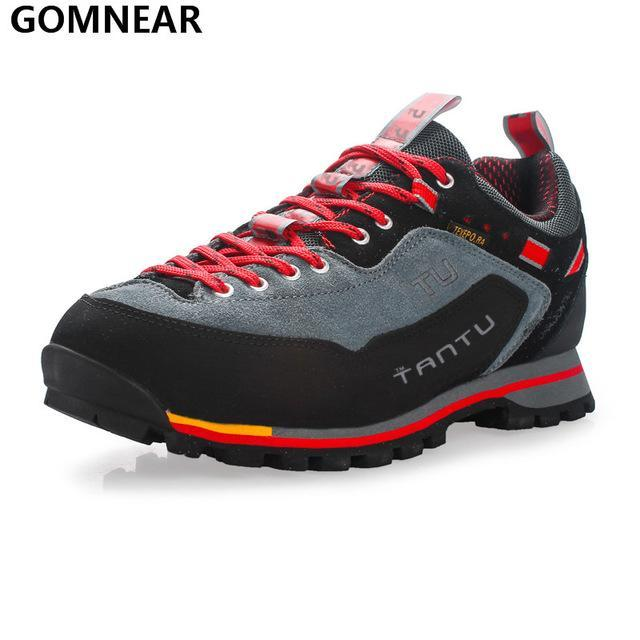 Gomnear Men Waterproof Hiking Shoes Outdoor Fishing Hunting Athletic Shoes-GOMNEAR Official Store-Red-6.5-Bargain Bait Box