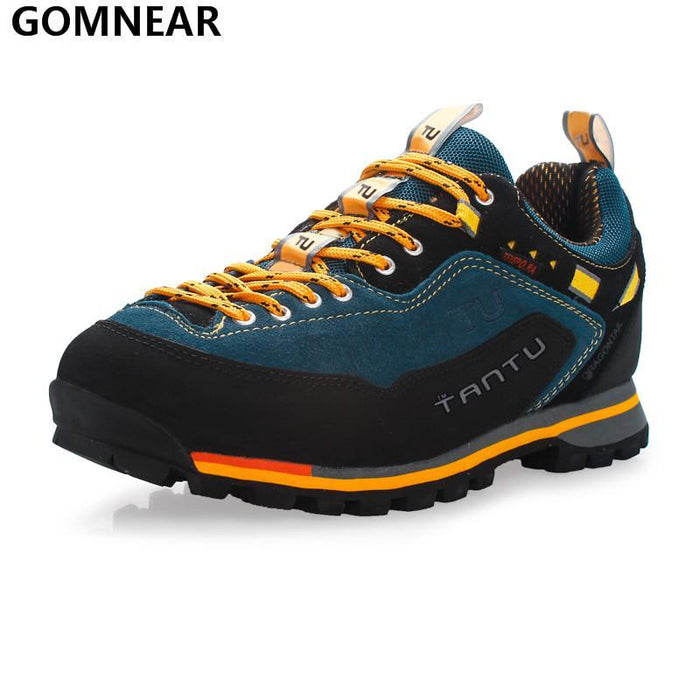 Gomnear Men Waterproof Hiking Shoes Outdoor Fishing Hunting Athletic Shoes-GOMNEAR Official Store-Yellow-6.5-Bargain Bait Box