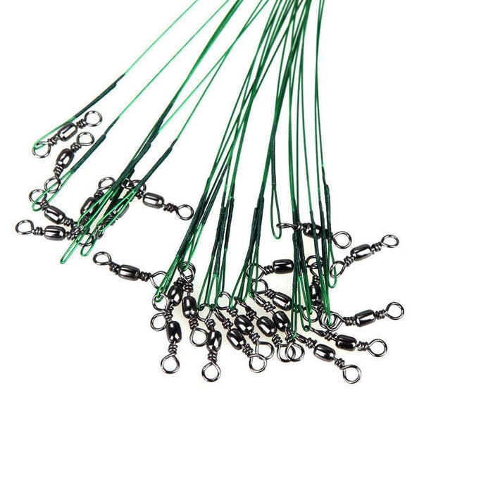 Good Deal 72Pcs Green Fishing Lure Line Trace Wire Leader Swivel Tackle-Life Going Keep Riding Store-Bargain Bait Box