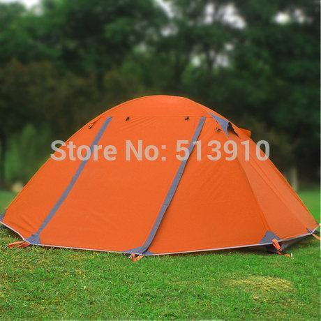 Good Quality Flytop Double Layer 2-3Person Aluminum Rod Outdoor Camping Tent-Sissi's outdoor store-Orange-Bargain Bait Box