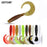 Goture 10Pcs/Lot 6Cm 2G Fishing Lure Soft Grub Worm Bait Curly Tail Silicone-Goture Official Store-C109309-Bargain Bait Box