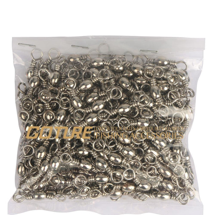 Goture 200Pcs/Lot Rolling Barrel Swivel Fishing Swivel Carbon Steel Sea-Goturefishing Store-SIZE 8 18MM 20KG-Bargain Bait Box