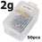 Goture 20Pcs-50Pcs Lead Jig Head Fishing Hooks 1G - 20G Hooks For Soft Fishing-Pisfun fishing store-50pcs 2g-Bargain Bait Box