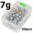 Goture 20Pcs-50Pcs Lead Jig Head Fishing Hooks 1G - 20G Hooks For Soft Fishing-Pisfun fishing store-50pcs 7g-Bargain Bait Box