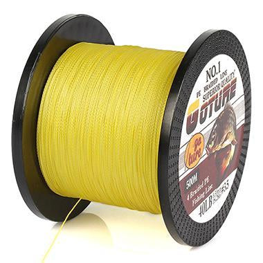 Goture 500M Braided Fishing Line 4 Stands Pe Multifilament Carp Fish Lines-Pisfun fishing store-Yellow-0.4-Bargain Bait Box