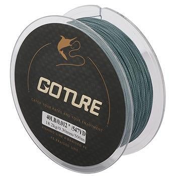 Goture 500M Strong Braided Fishing Line 4 Strands Pe Multifilament Line Sea-Goture Fishing Store-Dark Grey-0.15-Bargain Bait Box