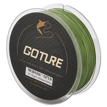 Goture 500M Strong Braided Fishing Line 4 Strands Pe Multifilament Line Sea-Goture Fishing Store-Light Green-0.15-Bargain Bait Box