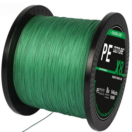 Goture Brand 500M 547Yards Pe Braided Fishing Line 8 Stands 17Lb-108Lb-Pisfun fishing store-Green-0.8-Bargain Bait Box
