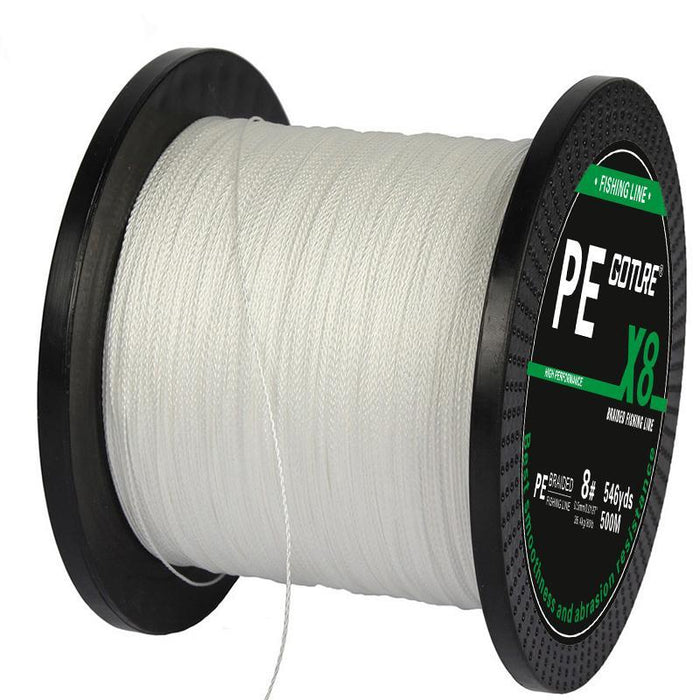 Goture Brand 500M 547Yards Pe Braided Fishing Line 8 Stands 17Lb-108Lb-Pisfun fishing store-White-0.8-Bargain Bait Box