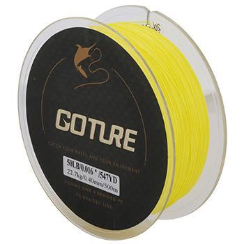 Goture Brand Braided Fishing Line 500M 547Yd 4 Stands Multifilament Fishing Line-Pisfun fishing store-Yellow-0.15-Bargain Bait Box
