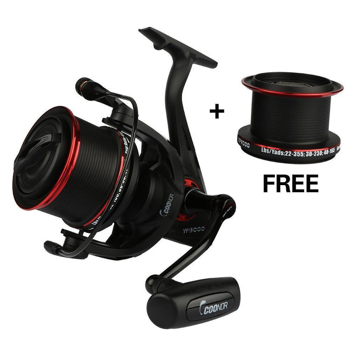 Goture Full Metal Double Spools Spinning Reel 12+1Bb Ratio 4.6:1 Distant Fishing-Spinning Reels-Goturefishing Store-Bargain Bait Box
