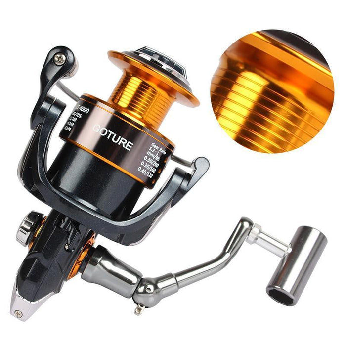 Goture Gt4000 Spinning Fishing Reel Coil Metal Spool Carp Fishing Wheel-Spinning Reels-Goturefishing Store-Bargain Bait Box