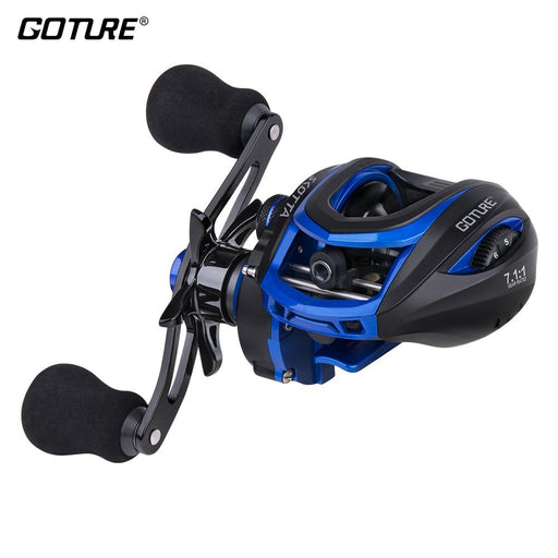 Goture Scotta Baitcasting Fishing Reel 8Kg Max Drag 7.1:1 High Speed 7+1Bb-Fishing Reels-Goturefishing Store-Reel-BC001-L Blue-China-Bargain Bait Box