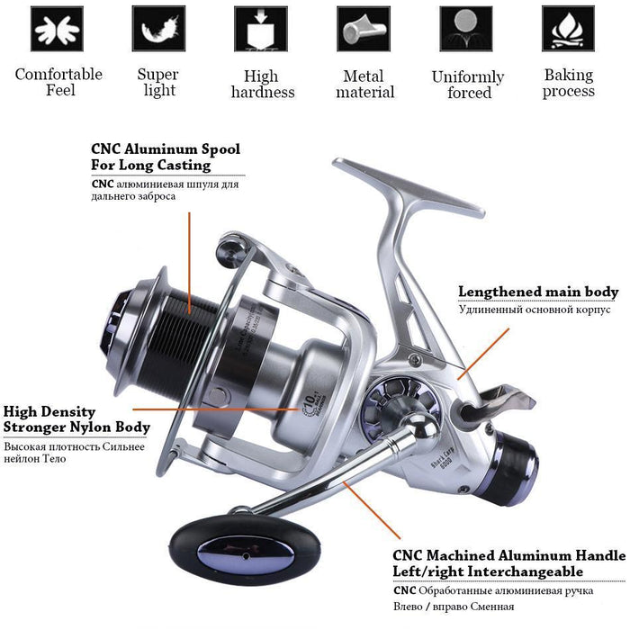 Goture Shark-Carp Fishing Reels Metal Spool 5000/6000 10+1Bb 5.2:1 Max Drag-Spinning Reels-Goture Official Store-5000 Series-Bargain Bait Box