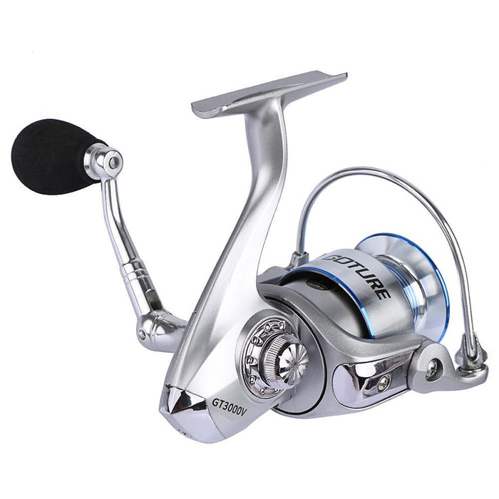 Goture Silver Spinning Reel Fishing Reel Coil Wheel Gt3000V 5.2:1 10+1Bb With-Spinning Reels-Goturefishing Store-Bargain Bait Box