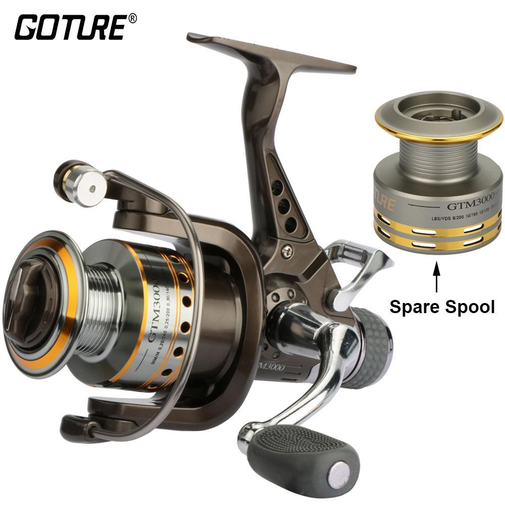 Goture Spinning Fishing Reel 7+1Bb Double Drag Saltwater Reel With A Spare Spool-Spinning Reels-Goture Fishing Store-Bargain Bait Box