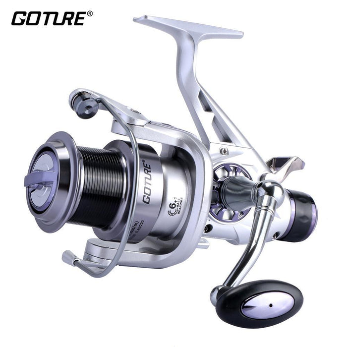 Goture Spinning Fishing Reel Double Brake Carp Fishing Feeder Fishing Wheel 11-Spinning Reels-Goture Fishing Store-Shark-Carp-5000 Series-Bargain Bait Box