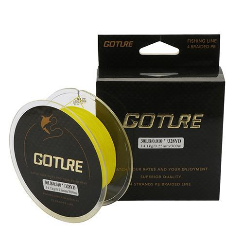 Goture Super Strong 300M Pe Braided Fishing Line 0.15-8# 4 Stands Weaves-Goture Fishing Store-Yellow-0.15-Bargain Bait Box