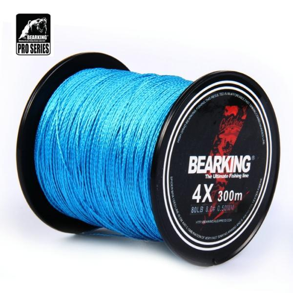Great Discount!! Hot Bearking 300M 10Lb - 80Lb Braided Fishing Line Pe Strong-bearking fishingtackle Store-blue-0.3-Bargain Bait Box