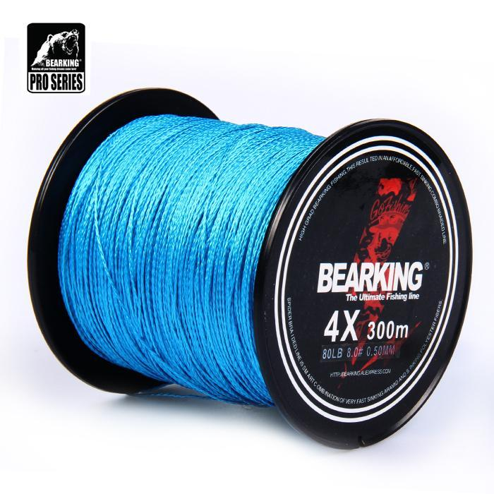 Great Discount!! Hot Bearking 300M 10Lb - 80Lb Braided Fishing Line Pe Strong-bearking fishingtackle Store-white-0.3-Bargain Bait Box
