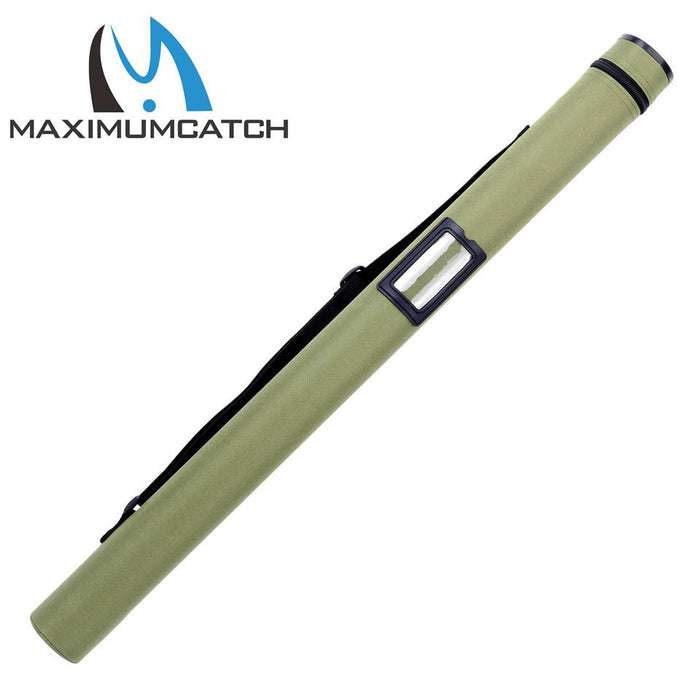 "Green Cordura Tube Carbon Fiber Fly Rod Tube For Rods 30"" Fits 9' And 10'-Fly Fishing Rod & Reel Cases-Bargain Bait Box-White-Bargain Bait Box"