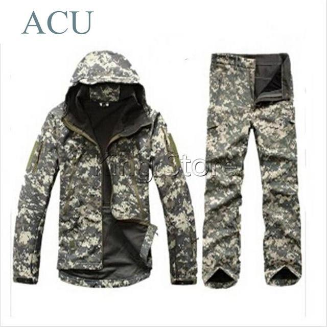 Green Waterprooftactical Uniform Hunting Camo Military Combat Uniform Set-Fishing Suits-Bargain Bait Box-ACU-S-Bargain Bait Box