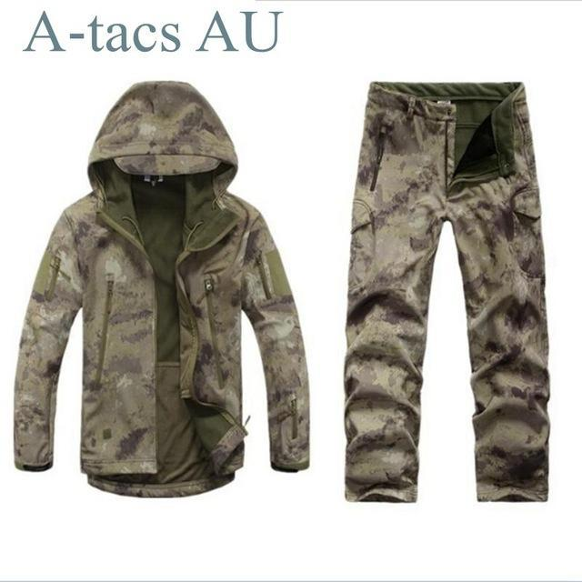 Green Waterprooftactical Uniform Hunting Camo Military Combat Uniform Set-Fishing Suits-Bargain Bait Box-AU-S-Bargain Bait Box
